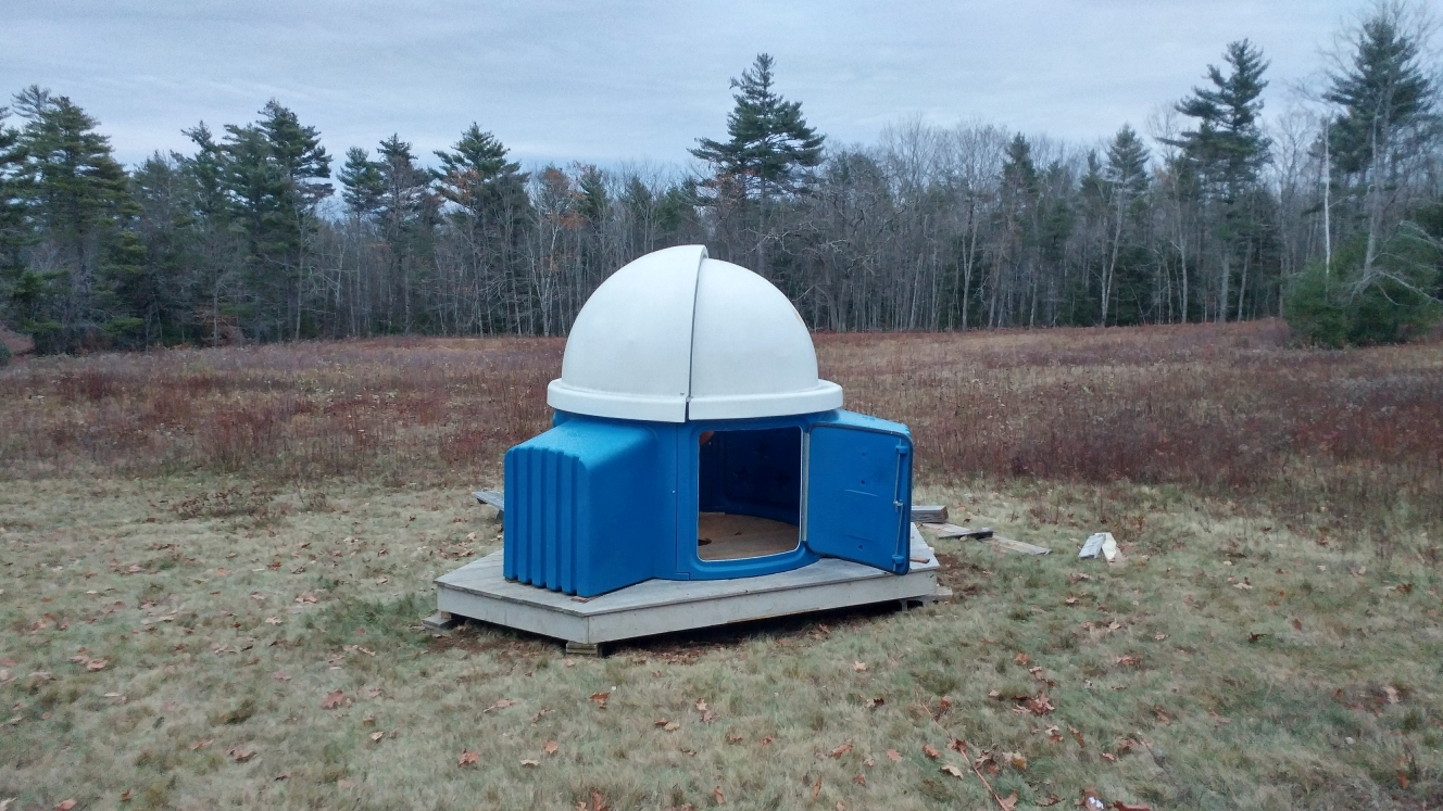 Completed installation of the Skyshed Pod.